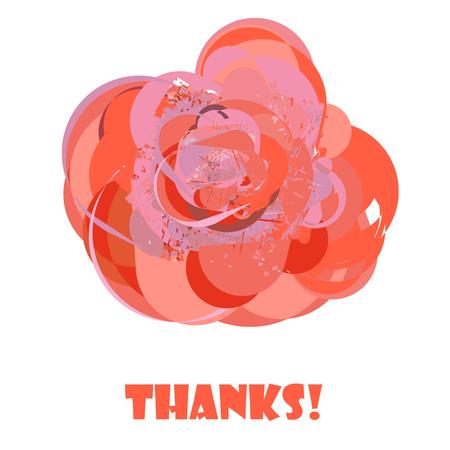 orange rose: Abstract orange rose on isolated background.