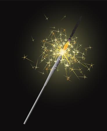 bengal: Bright bengal light on the dark  background. Happy New Year!