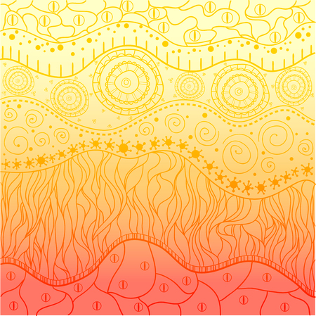 Abstract eastern pattern. Hand drawn texture with abstract patterns on isolation background. Line art creation.