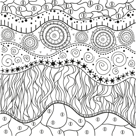 Abstract Eastern Pattern Zentangle Hand Drawn Isolated Texture Delectable Zentangle Patterns