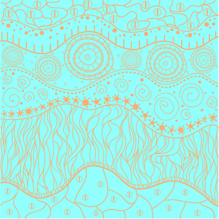 Abstract eastern pattern. Zentangle. Zen art. Hand drawn texture with abstract patterns on isolation background. Line art creation.