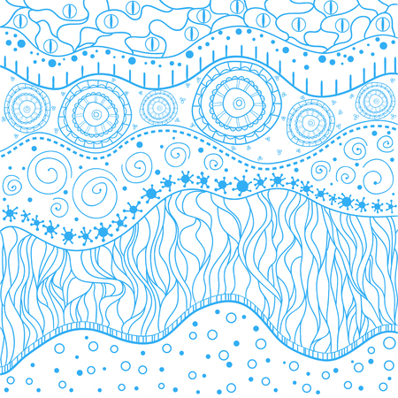 Hand drawn east texture with abstract patterns on isolation background.  . Design for spiritual relaxation for adults. Zen art. Decorative style. Line art creation. Print for polygraphy