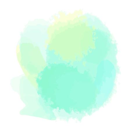 Abstracte waterverfaquarelle vormen op geïsoleerde achtergrond Stockfoto