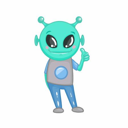 paranormal: Cartoon alien. Smile