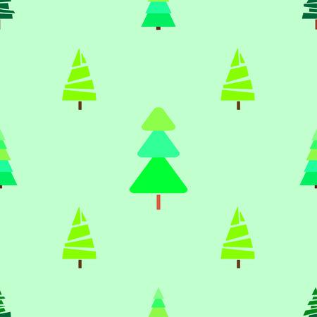 Modello senza cuciture con alberi di Natale. Trama luminosa Carta da parati geometrica astratta. Arte geometrica. Alberi di Natale verde. Stampa per tessuti, tessuti, poligrafia, poster. Biglietto d'auguri. Stile naturale