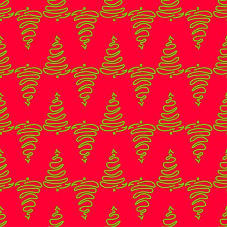 Modello senza cuciture con alberi di Natale. Trama luminosa Carta da parati geometrica astratta. Arte geometrica. Alberi di Natale verde. Stampa per tessuti, tessuti, poligrafia, poster. Biglietto d'auguri. Stile naturale Archivio Fotografico - 89118531