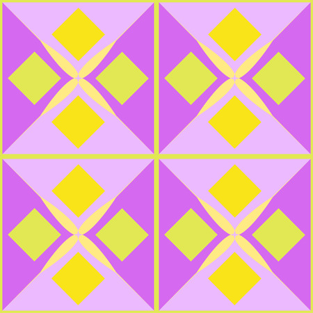 quadrate: Multicolored geometric abstract pattern.