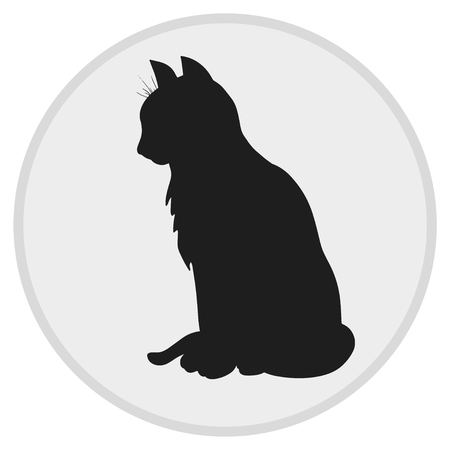 Cat silhouette web icon