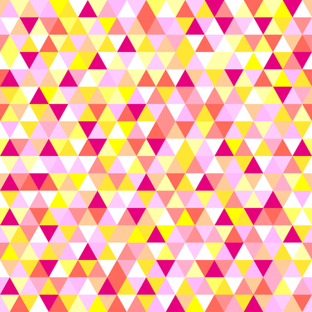 Seamless triangle pattern. Abstract geometric wallpaper of the surface. Cute background. Bright colors. Print for polygraphy, posters, t-shirts and textiles. Beautiful texture. Doodle for design Stock Vector - 89320713