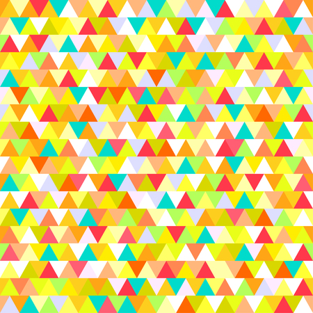 Seamless triangle pattern. Abstract geometric wallpaper of the surface. Cute background. Bright colors. Print for polygraphy, posters, t-shirts and textiles. Beautiful texture. Doodle for design Иллюстрация