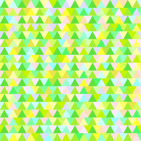 Happy New Year. Triangle pattern. Seamless multicolored texture. Geometric art. Green christmas trees. Print for polygraphy, t-shirts and textiles. Doodle for design. Ecological pastel colors