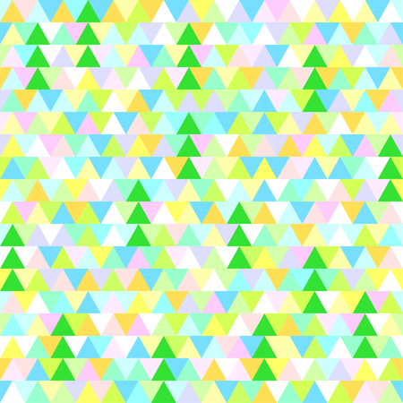 Seamless pattern with christmas trees. Triangle background. Abstract geometric wallpaper. Geometric art. Green christmas trees. Print for textiles, fabrics. Greeting cards. Natural texture