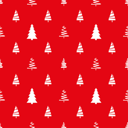 seamless pattern with christmas trees abstract geometric wallpaper
