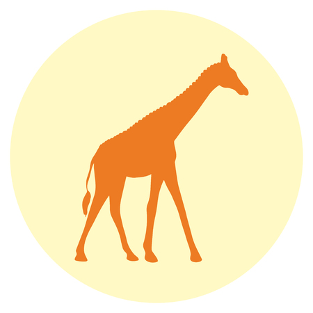 Giraffe abstract web icon  Illustration