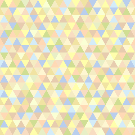Seamless triangle pattern. Abstract geometric wallpaper of the surface. Cute background. Light colors. Print for polygraphy, posters, t-shirts and textiles. Beautiful texture. Doodle for design