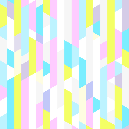 Seamless pattern. Abstract geometric wallpaper. Striped multicolored background Illustration