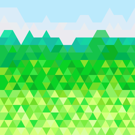 Seamless triangle pattern on horizontal. Abstract geometric wallpaper. Cute background. Print for polygraph, posters, t-shirts and textiles. Beautiful texture. Doodle for design.