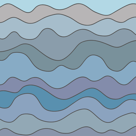 Pattern with lines and waves. Universal texture. Dynamic geometric background. Colored lineal wallpaper. Print for polygraph, t-shirts and textiles. Decorative style. Line art creation. Illustration