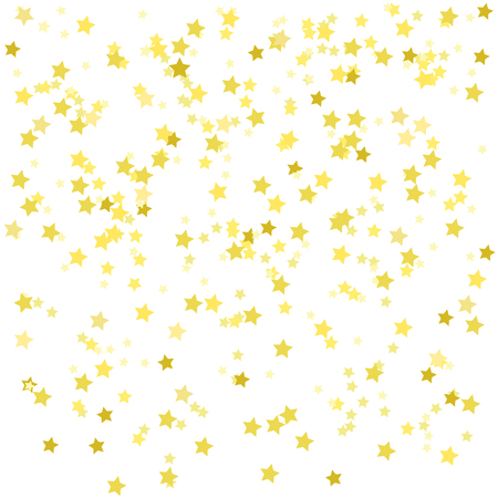 Abstract wallpaper with random falling golden stars. Pretty colors. Geometric background with confetti. Texture for design. Print for polygraphy, posters, t-shirts and textiles. Greeting cards
