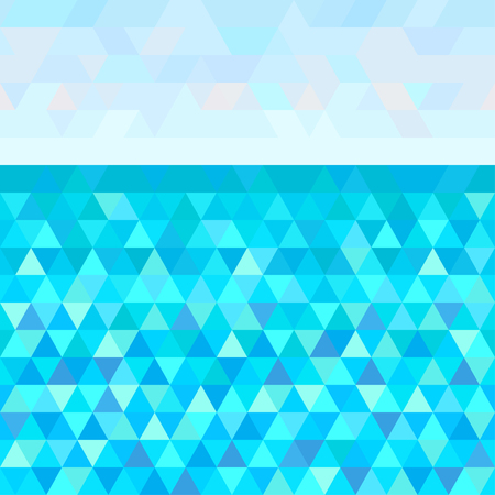 Seamless triangle pattern. Universal sea landscape. Striped multicolored background. Universal geometric texture. Dinamic colored background. Lineal wallpaper. Decorative style. Line art. Doodle
