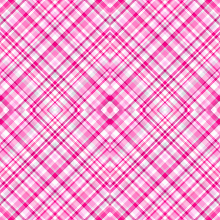 Seamless texture with checkered pattern, in pink color. Illustration