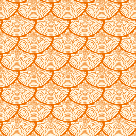 Tree rings. Seamless pattern. Set of tree rings on isolation background. Conceptual graphics. Line art. Objects for design. Decorative style. Texture for polygraphy, printing, posters and other Illustration