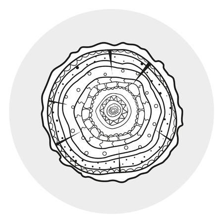Tree rings wood abstract web icon