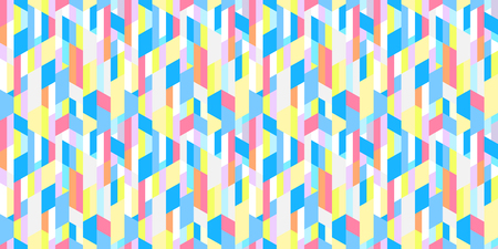 Multicolored pattern. Seamless striped background with segments. Geometric wallpaper of the surface