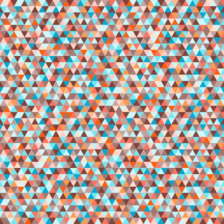 Tile pattern with triangles. Seamless geometric wallpaper of the surface. Unique background. Doodle for design. Bright colors. Print for polygraphy, posters, t-shirts and textiles. Luxury texture Vectores