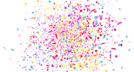 Multicolored confetti isolation on white. Geometric texture with glitters on isolated background. Pattern for design. Print for flyers, posters, banners and textiles. Greeting cards. Luxury texture