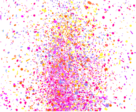 Multicolored confetti isolation on white. Geometrical background with glitters. Pattern for design. Print for flyers, posters, banners and textiles. Greeting cards. Luxury texture