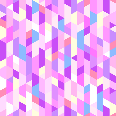 Poligonal multicolored pattern. Seamless background. Abstract geometric wallpaper of the surface. Bright colors. Print for polygraphy, posters, t-shirts and textiles. Unique texture. Doodle for design Illustration