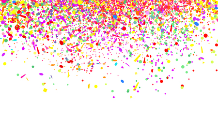 Confetti isolation on white. Luxury texture. Bright festive background with multicolored glitters. Pattern for design