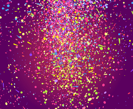 Confetti. Bright explosion. Firework. Texture with glitters. Geometric background. Pattern for design. Print for banners, posters and textiles. Greeting cards