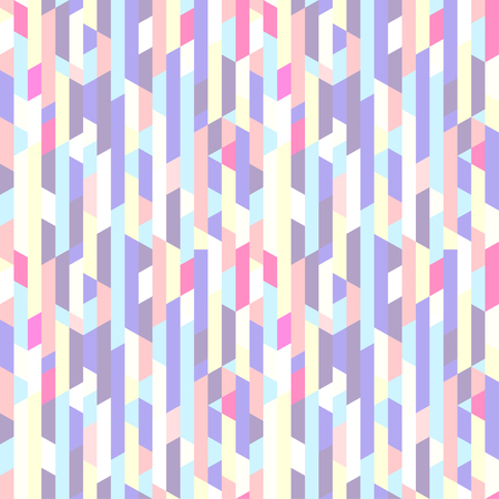 Seamless vertical pattern. Multicolored background. Abstract polygonal wallpaper. Print for polygraphy, banners, t-shirts and textiles. Texture for design