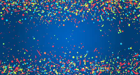 Texture with colored confetti on dark background. Pattern for design. Print for polygraphy, posters, textiles. Greeting cards. Explosion. Firework