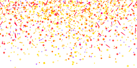 Confetti. Bright pattern with multicolored elements on white background. Texture with glitters for design. Greeting cards. Print for flyers,banners, t-shirts and textiles. Doodle for design