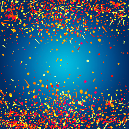 Confetti on isolated dark background. Geometrical pattern with glitters. Bright texture for design. Print for banners, posters, flyers and textiles. Greeting cards Illustration