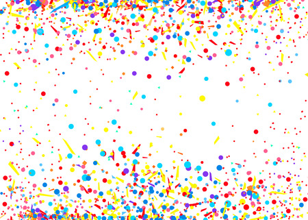 Confetti isolation on white. Luxury texture. Bright background with multicolored glitters. Pattern for design. Print for polygraphy, posters, banners and textiles. Greeting cards Illustration