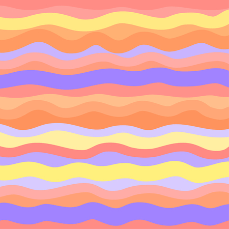 Abstract wallpaper of the surface. Cute background. Hot colors. Pattern with lines and waves. Multicolored texture. Decorative style. Print for flyers, posters, banners and textiles
