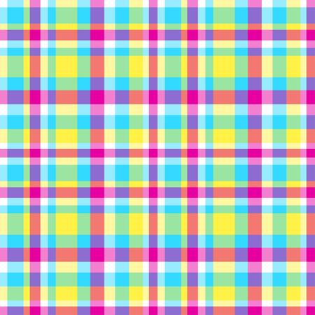 Patrón sin costuras. Papel pintado geométrico abstracto de la superficie. Fondo multicolor a cuadros. Bonita textura. Impresión para poligrafía, camisetas y textiles. Doodle para el diseño. Creación de arte Ilustración de vector