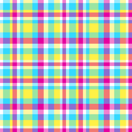 Seamless pattern. Abstract geometric wallpaper of the surface. Checkered multicolored background. Pretty texture. Print for polygraphy, t-shirts and textiles. Doodle for design. Art creation Vectores