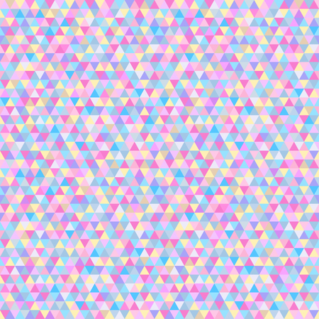 Tile pattern with triangles. Seamless geometric wallpaper of the surface. Unique background. Doodle for design. Bright colors. Print for polygraphy, posters, t-shirts and textiles. Luxury texture Illustration