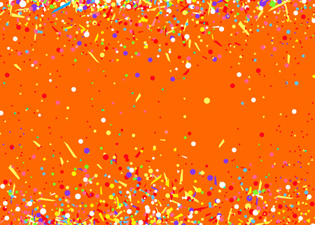 Bright background with colored confetti. Pattern for design. Print for polygraphy, posters, t-shirts and textiles. Greeting cards. Explosion. Bright firework. Print for polygraphy, banners and posters