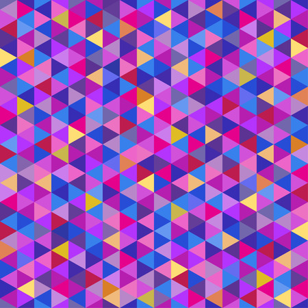 Triangle pattern. Colorful wallpaper of the surface. Seamless bright tile background. Print for polygraphy, posters, t-shirts and textiles. Unique texture. Doodle for design