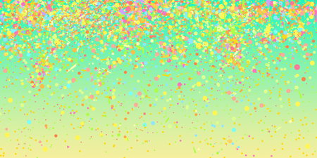 Multicolored pattern with colored confetti on isolated background. Texture with glitters for design. Greeting cards. Explosion. Bright firework. Luxury wallpaper. Print for banners, flyers and posters