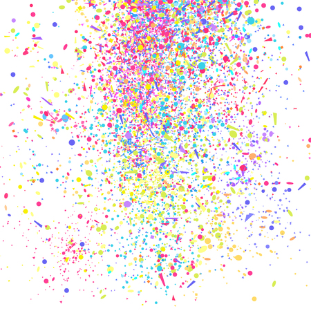Confetti. Luxury texture. Bright festive background with multicolored glitters. Pattern for design. Print for flyers, posters, t-shirts and textiles. Doodle for design