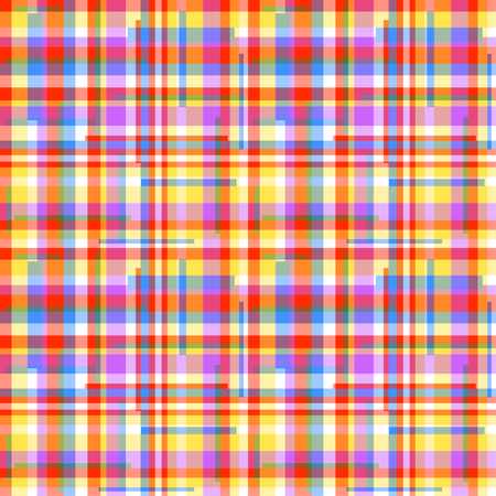 Seamless tile pattern. Checkered geometric wallpaper of the surface. Striped multicolored background. Pretty texture. Print for banners, flyers, t-shirts and textiles. Doodle for design. Art creation