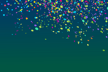 Confetti. Bright explosion. Colorful firework. Texture with colored glitters. Geometric background. Image for banners, posters and flyers. Greeting cards