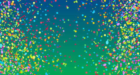 Multicolored confetti. Colorful firework. Festive texture with colored glitters. Geometric background. Image for banners, posters and flyers. Greeting cards